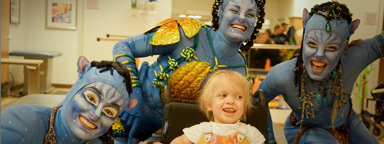 Cirque du Soleil visits with Hospital patients