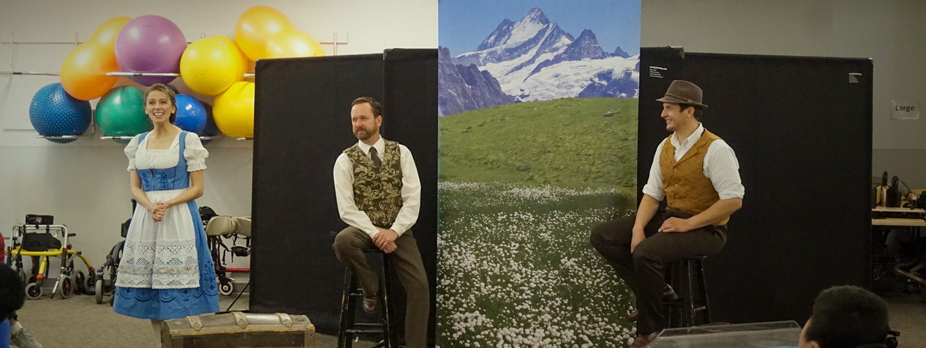 """Actors perform """"The Sound of Music Interactive"""" for patients"""