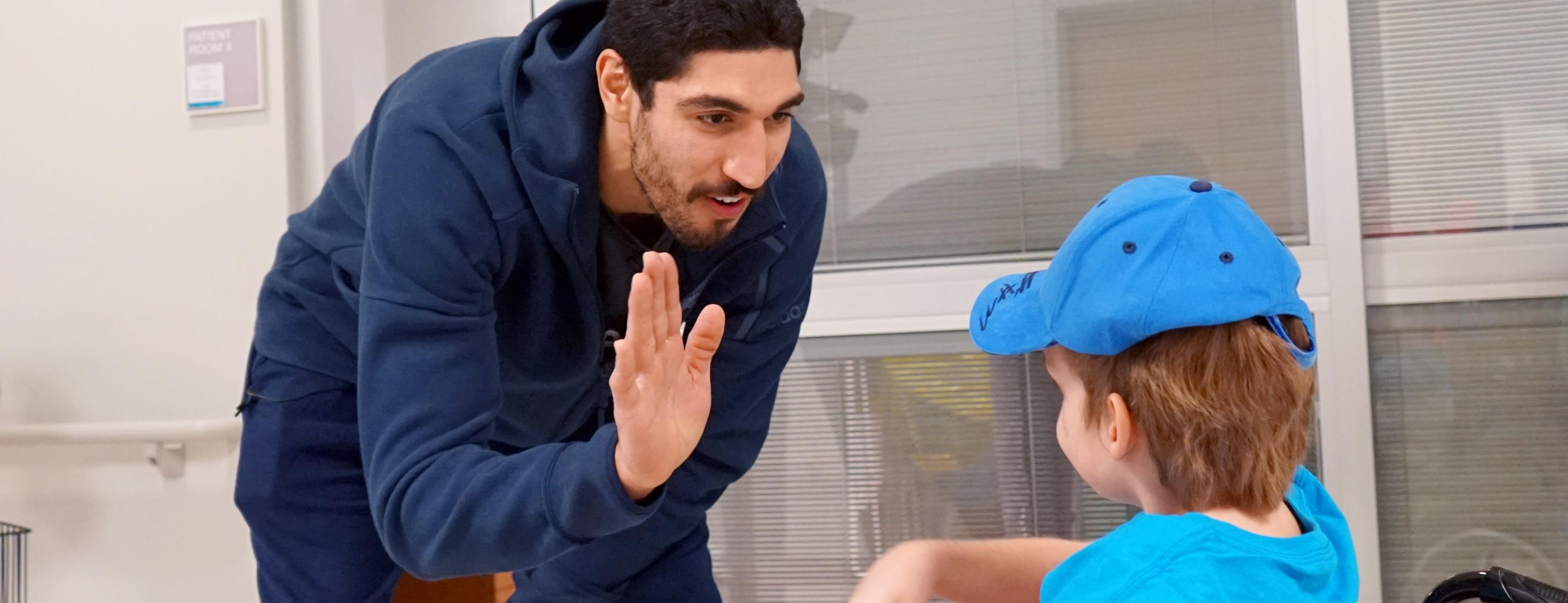Enes Kanter Surprises Patient For His 16th Birthday