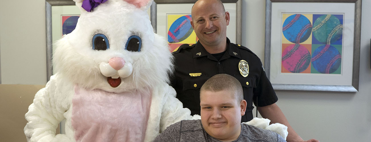 Easter Bunny Visits Patients
