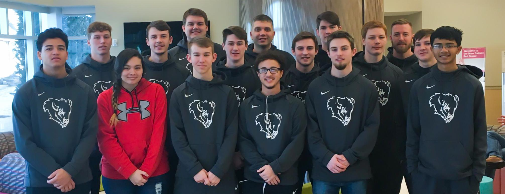 McAlester Boys Basketball Team Visits Pediatric Hospital