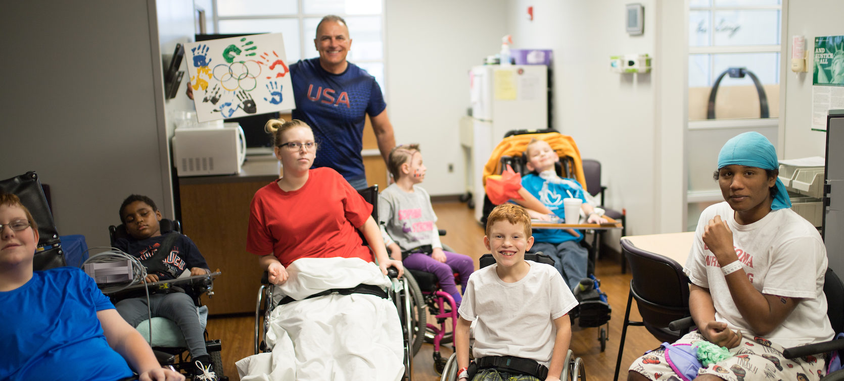 Patients Catch the Olympic Spirit