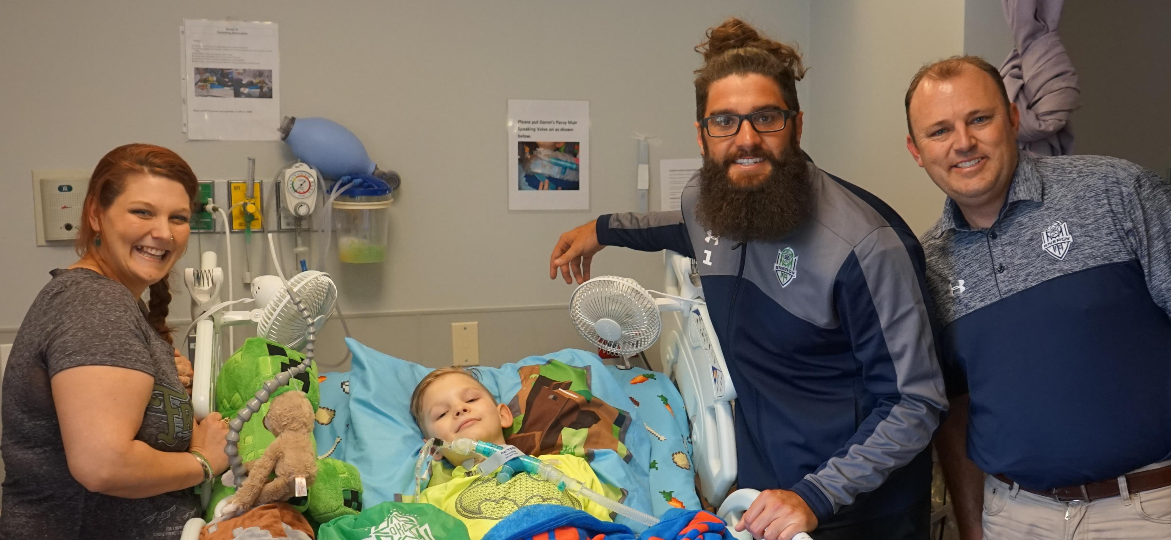 OKC Energy Football Club Visits Patients