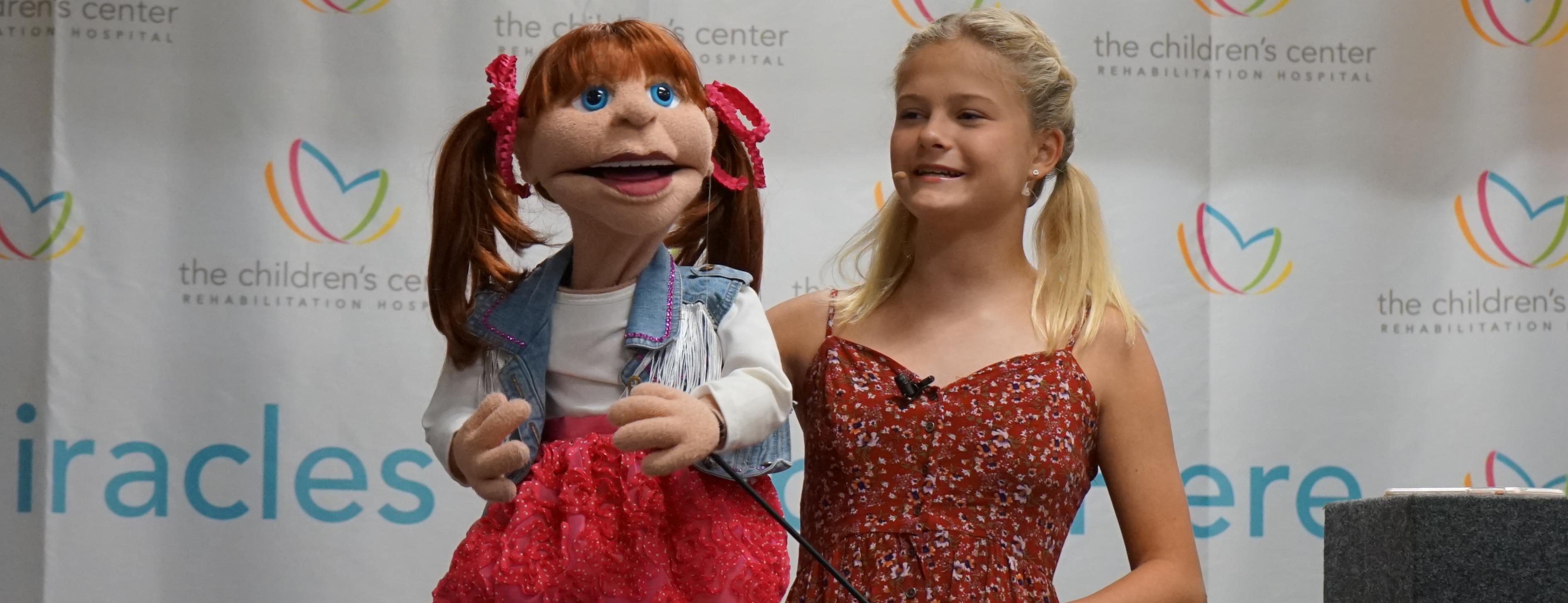 Darci Lynne Performs for Patients