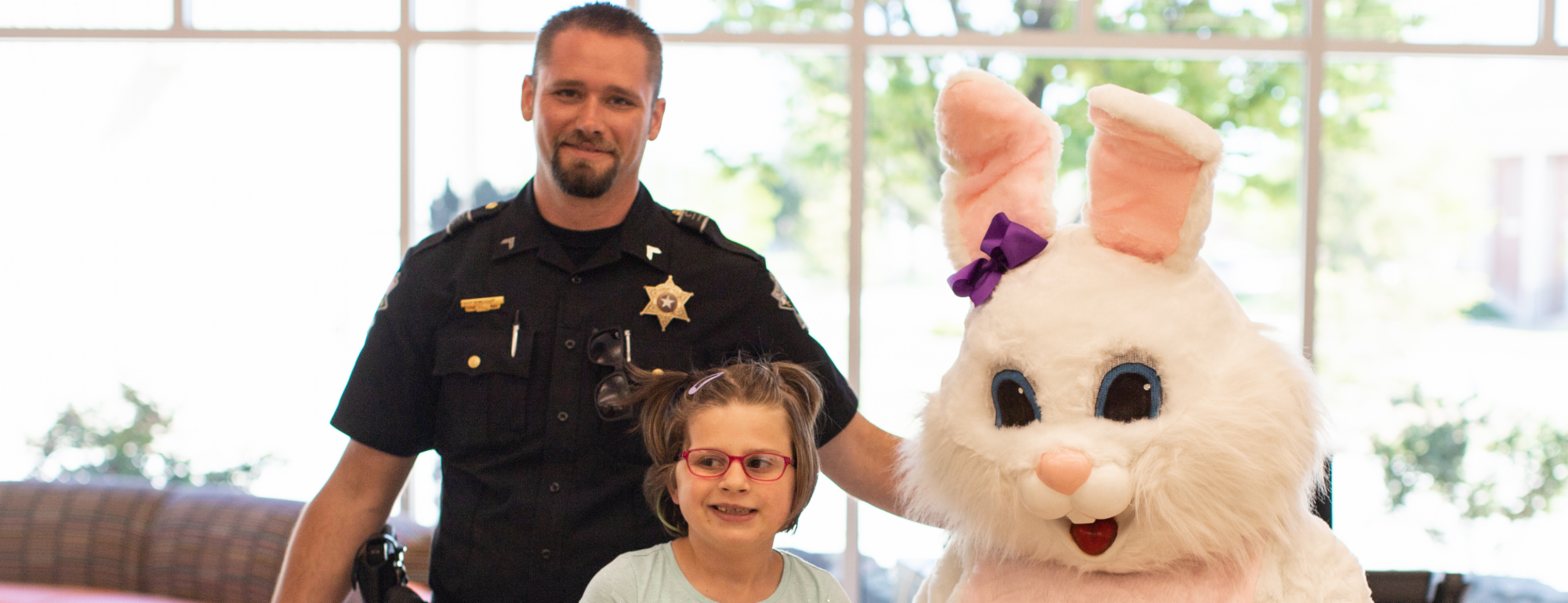 Easter Bunny Visits The Children's Center Rehabilitation Hospital